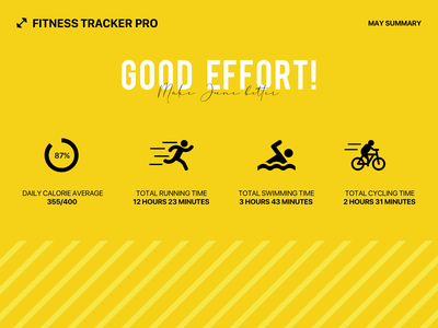 Daily UI 041 - Fitness Tracker workout cycle swim run fitness fitness app