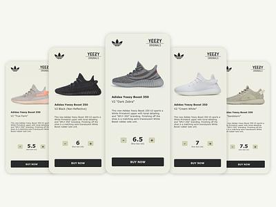 Daily UI 045 - Info Card shoes info card yeezy