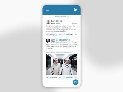 Daily UI 047 - Activity Feed linkedin social feed activity