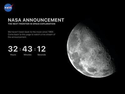 Daily UI 48 - Coming Soon branding space announcement nasa