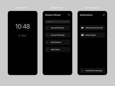 Daily UI 49 - Notification simplicity notification ui ios apple