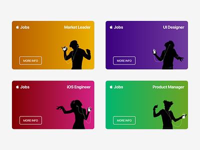 Daily UI 50 - Job Listing ios designer job listing job apple