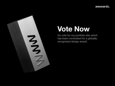 I'm Nominated! Please Vote portfolio design portfolio site portfolio award design awwwards