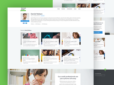 The Credit Review | Author Landing Page Design