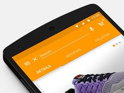 Material Design - Mobile Shopping App app mobile material design ux ui shopping prototype