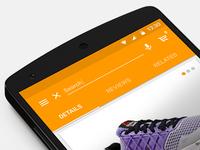 Material Design - Mobile Shopping App