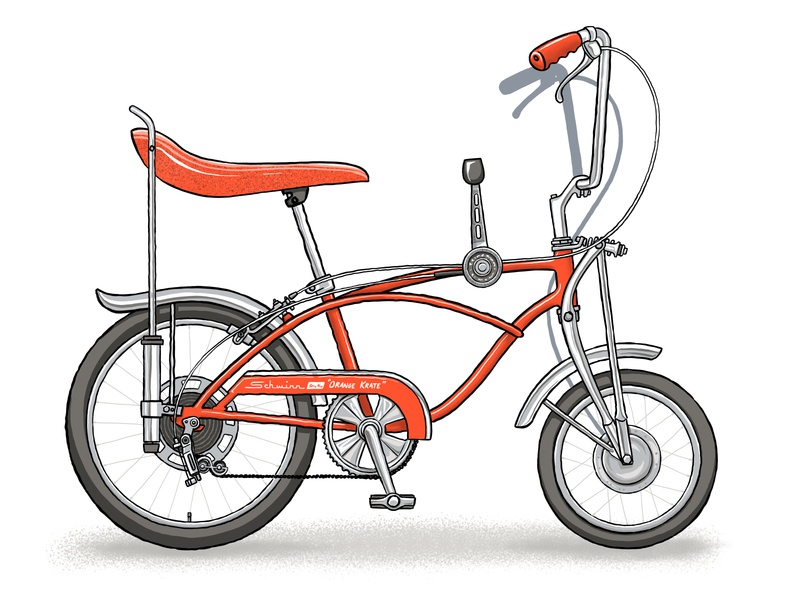 Schwinn Sting-Ray Orange Krate orange sketch procreate product illustration illustration sting ray schwinn orange krate vintage bike bike bicycle