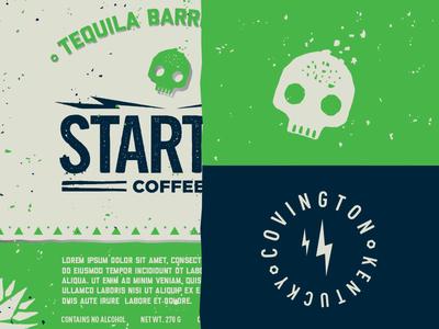 Tequila Barrel Aged Coffee Label