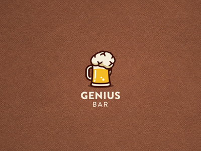 Genius Bar  genius bar logo illustration