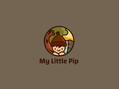 My Little Pip  logo illustration pip childrens health wellness kid