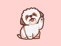 Gimme Paw joy paw fun concept inspiration happy cartoon shihtzu sketches doggy walking service cute love daycare logo mascot dog