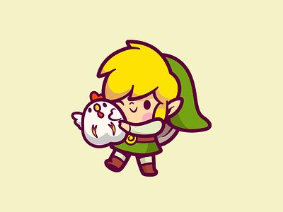 The Legend of Zelda cute adventure gaming gamer brand character smile fanart video games zelda logo illustration link nintendo game