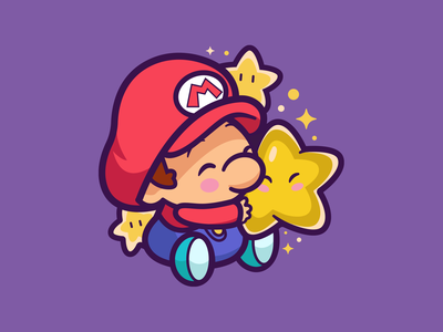 Baby Mario ✨⭐️ retro gamer smile cute super snes character sketch fun gamers love star baby mario logo game nintendo