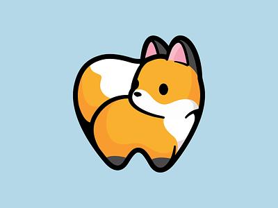 Tafur - Pediatric dentistry friendly outline teeth animal icon branding pediatric dentistry fox cute illustration logo brand mark