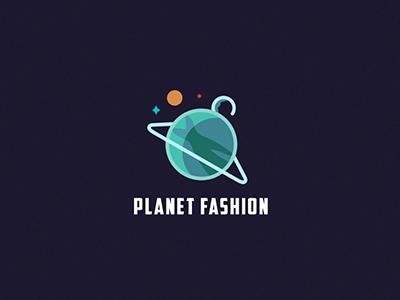 Planet Fashion logo illustration planet fashion space flat icon women clothes