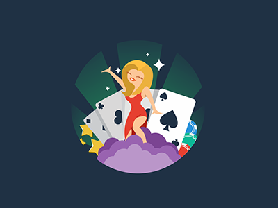 Quasar Gaming casino online casino icon illustration online gaming gamble gambling cards coins winner