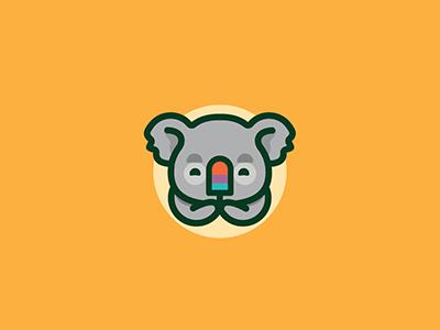 Koala Popsicle icon logo creamsicle popsicle ice cream