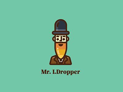 Mr I.Dropper mister symbol color illustration logo eyedropper icon