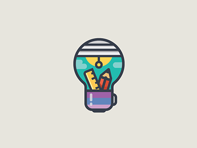 Brilliant Notion v1.0 tool mug illustration light bulb idea logo