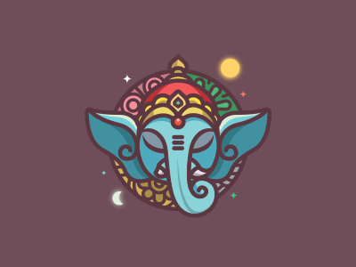 Ganesha - navamsa.ru space astrology god hindu indian culture illustration ganesha