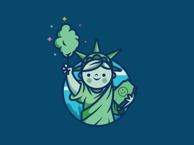 Candy Liberty america statue kids cottom liberty candy