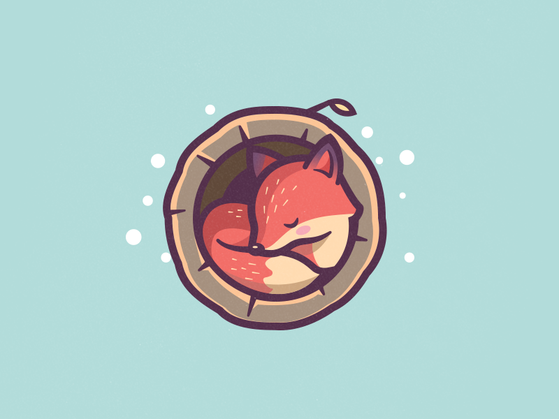 Sleeping Fox by Carlos Puentes | cpuentesdesign on Dribbble