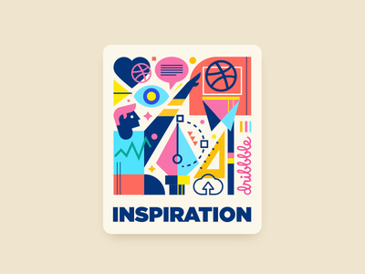 Inspiration learning tool mule icon vector fun inspiration colorful playoff ball geometric player like comment view love sticker illustration logo