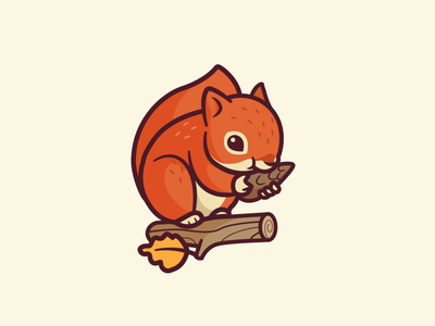 Squirrel branding cpuentes fun funny identity illustration logo friendly nature cute character mascot squirrel