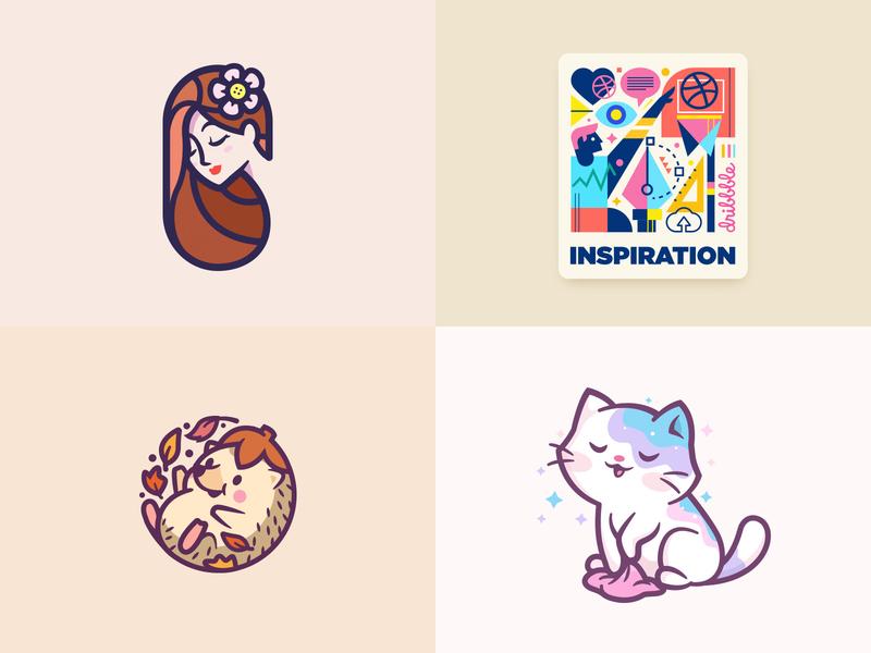 2018 - Sure, why not? :) mascot character fun brand mark identity cat animal lover cute geometric beauty inspiration branding logos