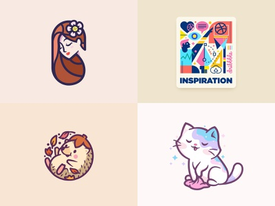 2018 - Sure, why not? :) mascot character fun brand mark identity cat animal lover cute geometric beauty inspiration branding logos