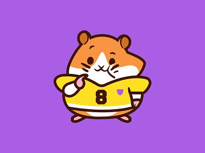 Most Valuable Player identity mark app outline fun funny animal mascot character brand branding cartoon football logo illustration hamster cute player
