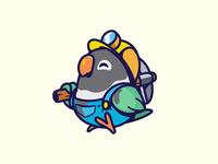 Blue Mask Bird