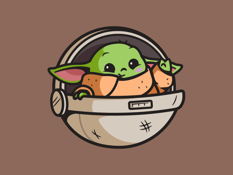 Baby Yoda by Carlos Puentes   cpuentesdesign on Dribbble