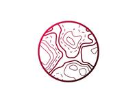Topographic map icon