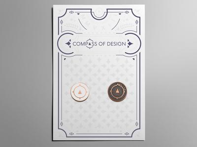 Custom Letterpress Pin Backer Card