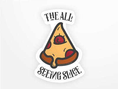 Vinnys Pizza Challenge by Darian Rosebrook typography illustration cheese drip slice challenge design pizza vinnys pizza playoff sticker mule sticker
