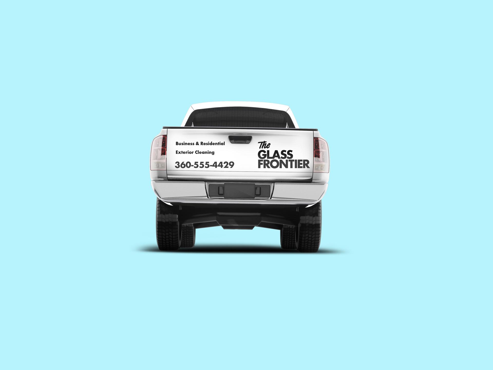 Mockup truck rear dark logo 1