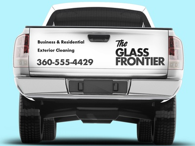 Logo display for exterior cleaning company.