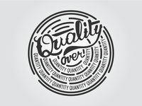 Dribbble Hang Time Quality Over Quantity Hand Lettering