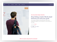 New landing page for the Compass of Design Community