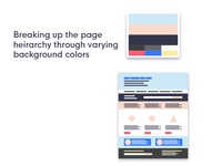Mock layout to showcase color palettes