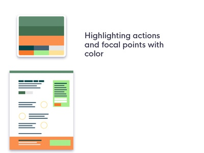 Another mock layout to showcase color palettes