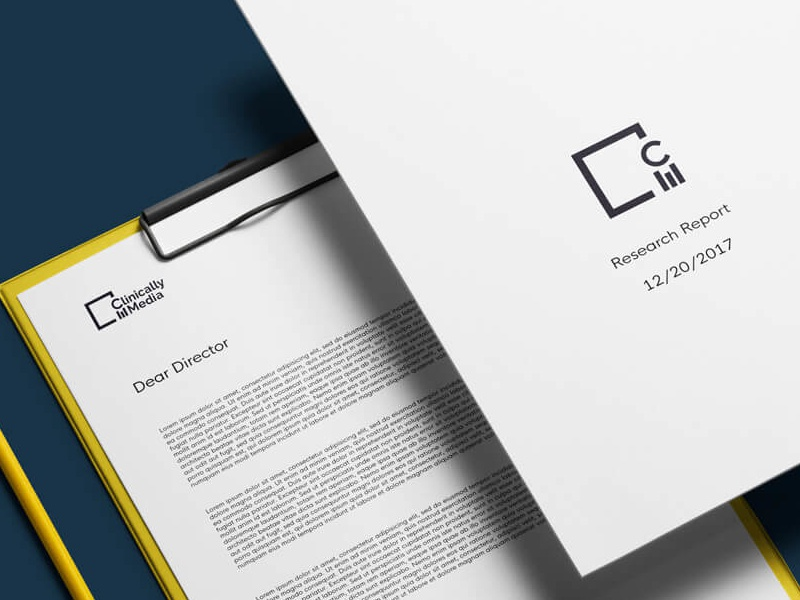 medium business stationary for clinically media by darian rosebrook