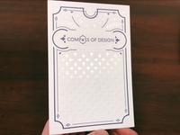 Letterpress pin backing card