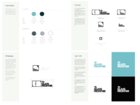 Brand guideline pages for logo usage