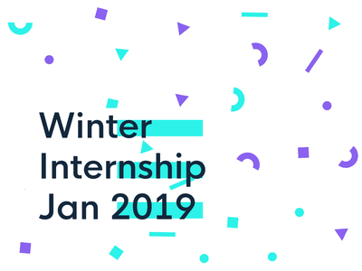 Coming up with graphics for a possible winter internship illustration typography icon color shapes design designer internship intern pattern