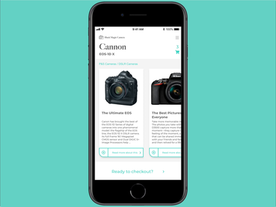 Camera Sales/Info page design web design app ui design store retail sales camera mobile app ux design ui ux ux ui prototype after effects