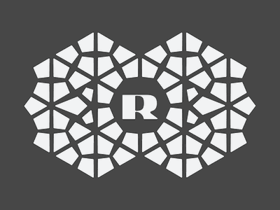 Pattern Exploration logo design typography branding honeycomb badge hexagonal hexagon pattern r initial logo logotype