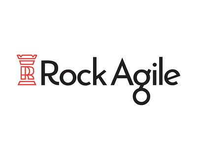 Rock Agile Logo Design brandmark logotype typography branding logo designer branding agency custom logo custom typography devops logo design logo r rook