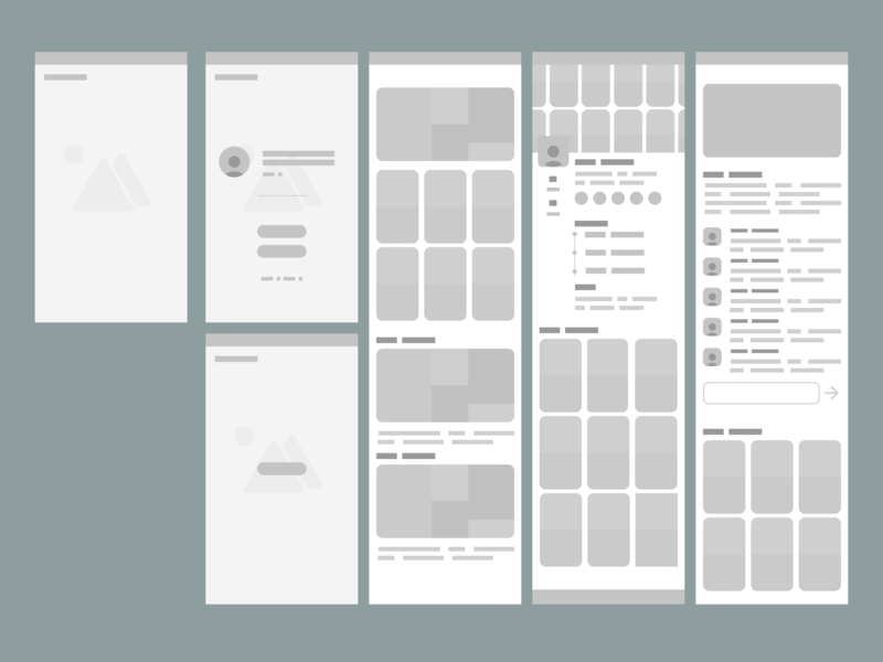 Early wireframe for potential app direction interface design ux design mobile ui wireframe web user interface user experience app design app ui ux